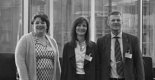 bvvp Vorstandsmitglieder Ariadne Sartorius, Ulrike Böker und Vorstandsvorsitzender Benedikt Waldherr